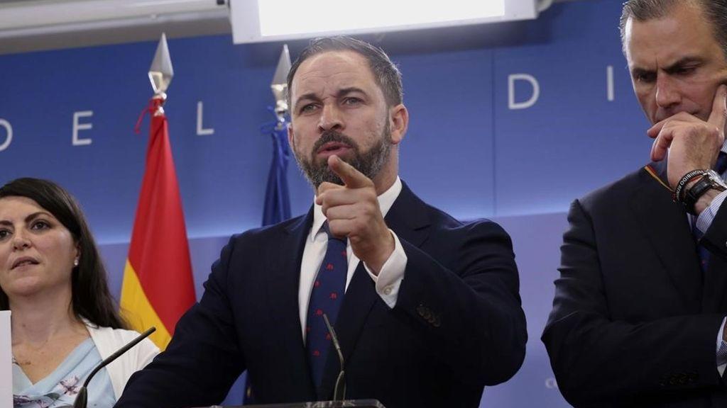 """Vox llama """"criminal"""" a Sánchez, pide su dimisión y reclama un """"Gobierno de Emergencia Nacional"""""""