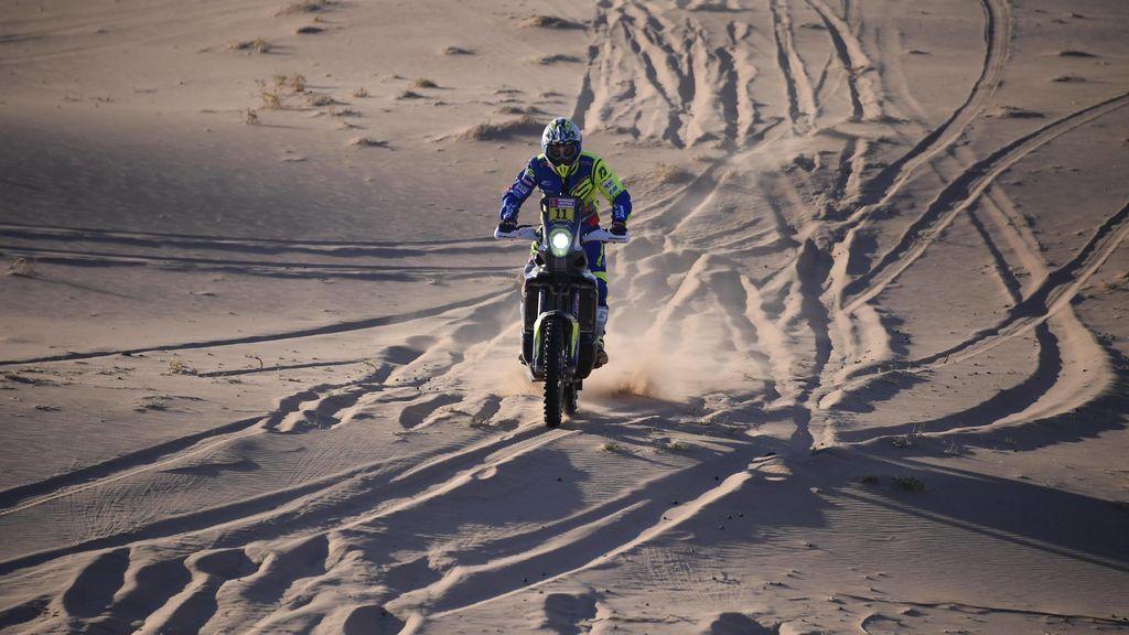 Motorista durante una etapa del Rally Dakar