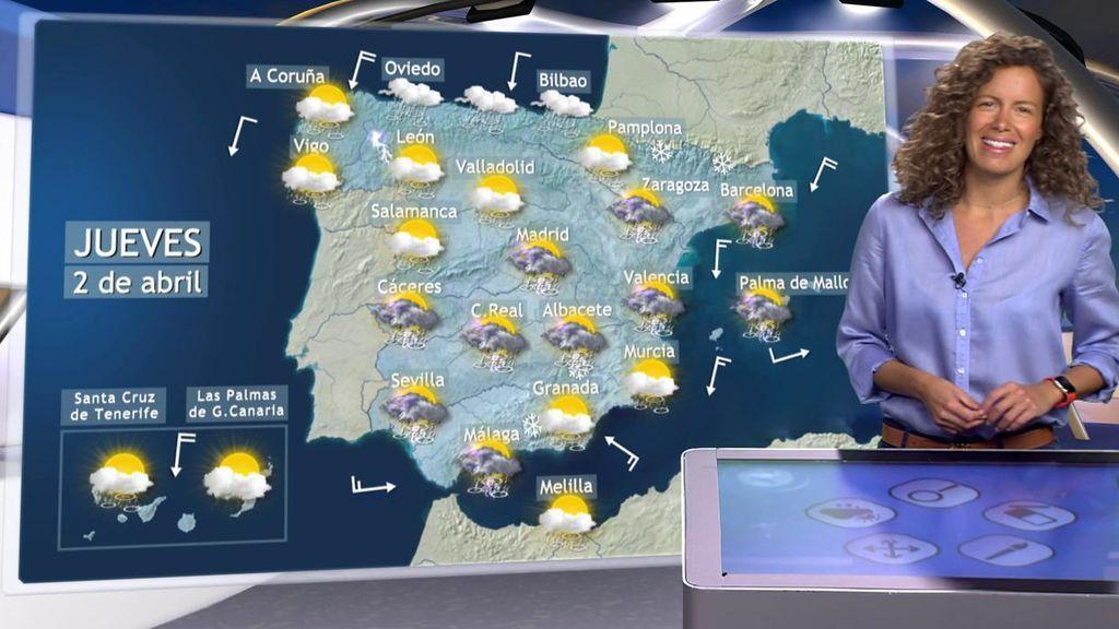 Adiós, nieve: las lluvias toman el relevo en toda España con el ascenso de las temperaturas