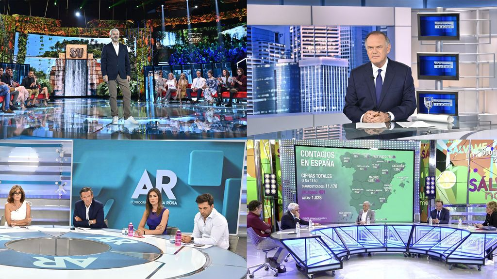 Telecinco lidera marzo y registra un incremento en su consumo de más de un 20% sobre marzo de 2019