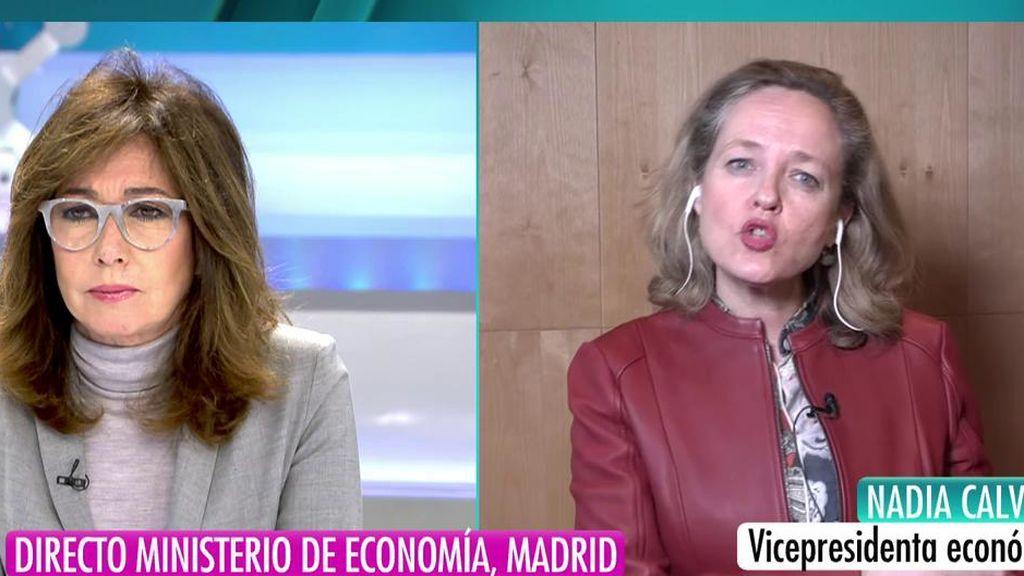 """Nadia Calviño: """"No queremos que esta crisis afecte a las personas más vulnerables"""""""