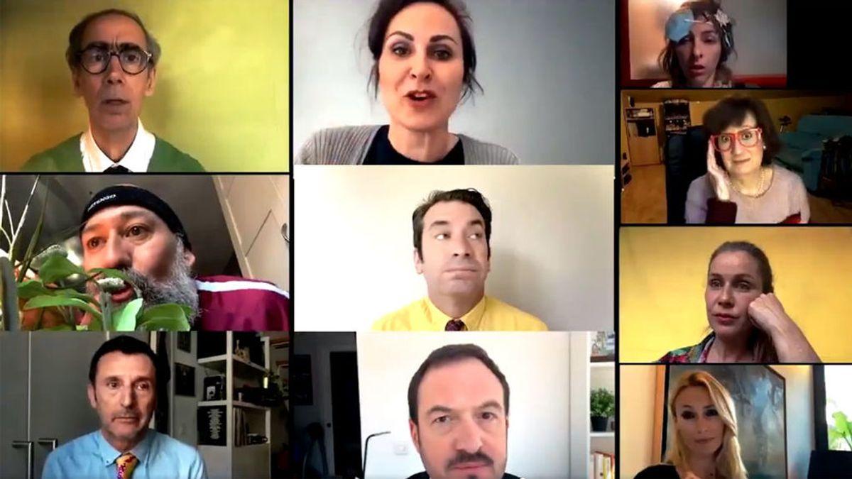 Los actores de 'Camera Café' graban un sketch, 10 años después, ahora confinados en casa