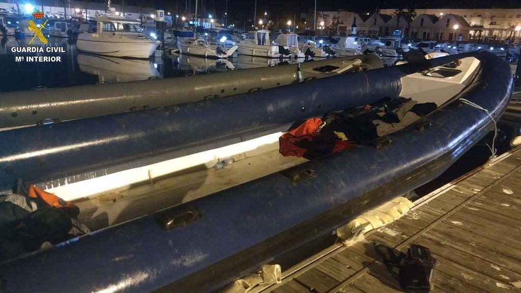 Una narcolancha intervenida en Huelva