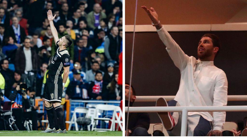 El zasca de Sergio Ramos al Ajax: lo vacilan con una imagen en el palco el día de la derrota, y él contesta con sus cuatro Champions