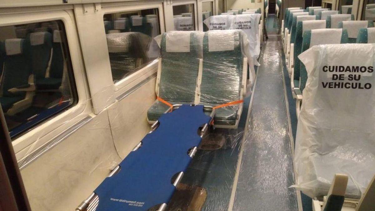 Trenes medicalizados para paliar el colapso de las UCIs de Madrid: traslado de pacientes a otras comunidades autónomas