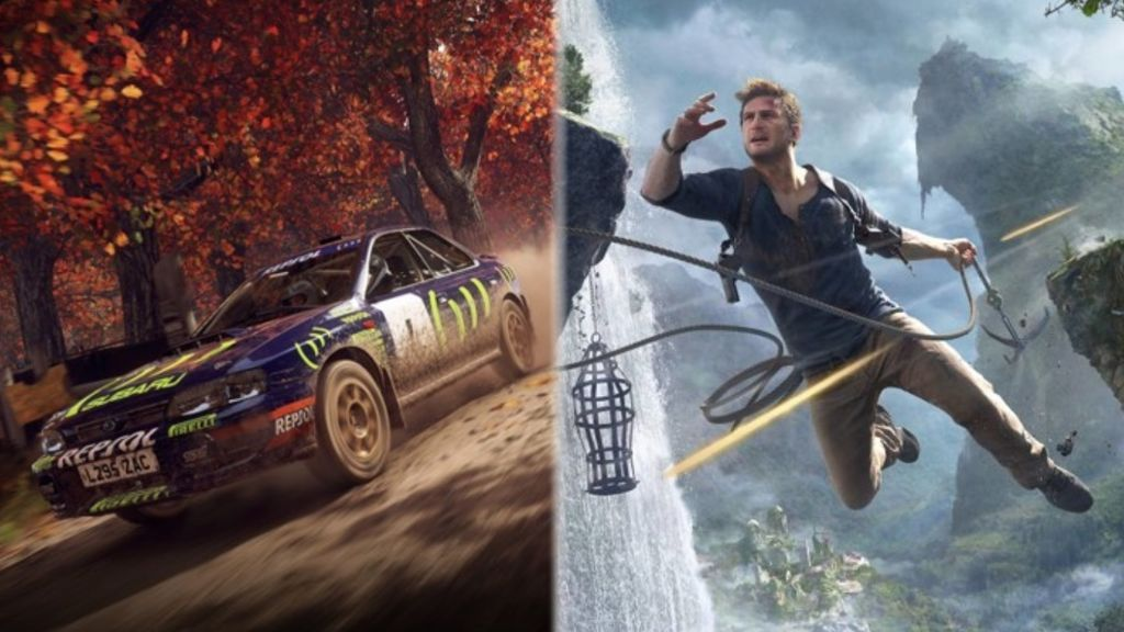 Uncharted 4 y DiRT Rally 2.0