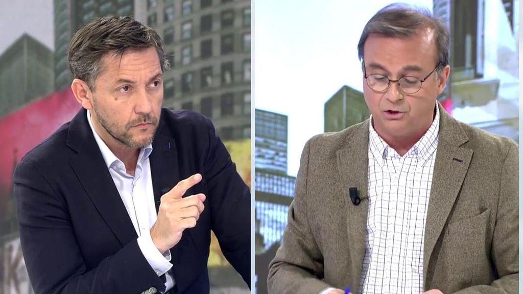 Javier Ruiz discute con Vicente Gil