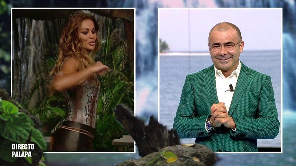 "El baile 'reggaetonero' de Lara Álvarez al conectar con Jorge Javier: ""¡Yo 'perreo' sola!"""