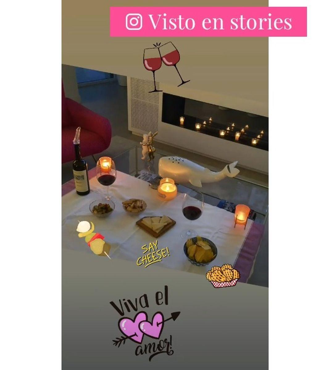 La cena romántica de Paula y Miguel Torres