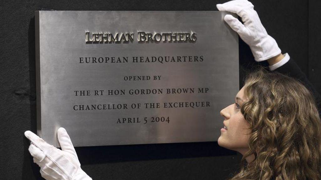 Placa de Lehman Brother's en Londres