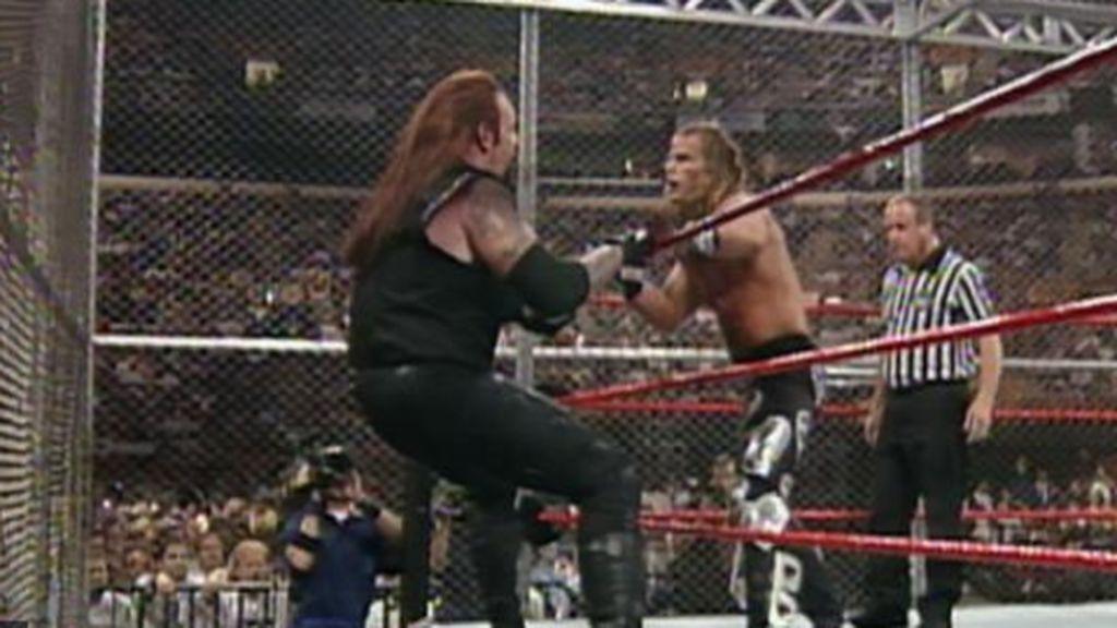 HBK y Undertaker en el Hell in a Cell de 1997.
