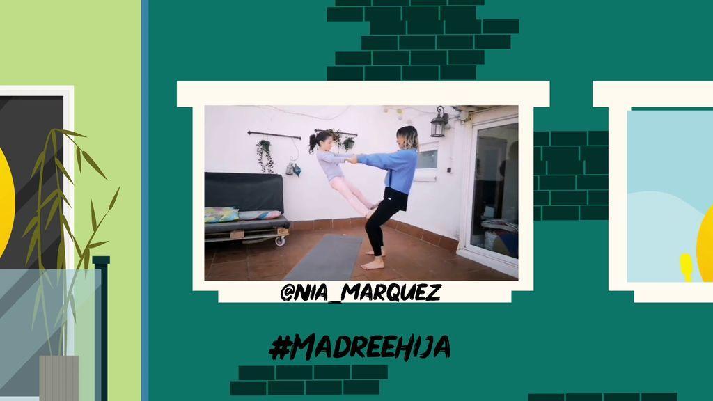 @NIA_MARQUEZ nos enseña a cómo hacer yoga con los más pequeños de la casa