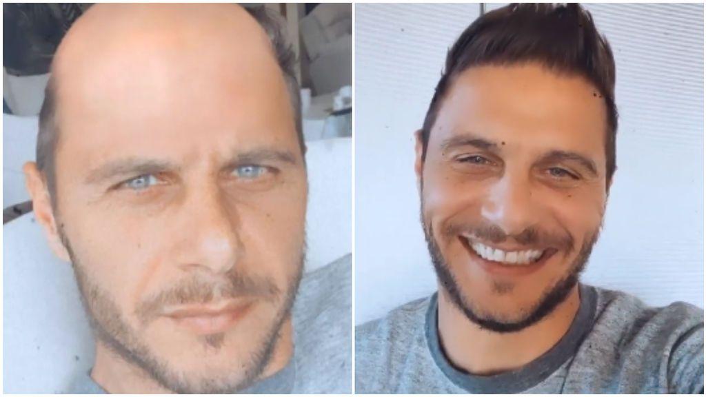 Joaquín 'se aburre' en casa y no para de vacilar: amaga con raparse, vacila a Marcelo y su perro y presume de cuerpo con selfie en el baño