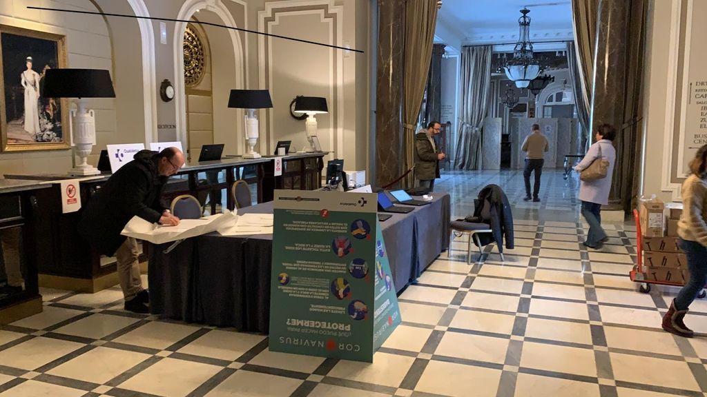Vestíbulo del Hotel María Cristina de San Sebastián