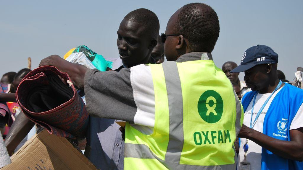 Trabajadores humanitarios en Sudán del Sur