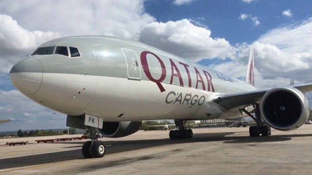 Madrid recibe un segundo avión con 82 toneladas de material sanitario