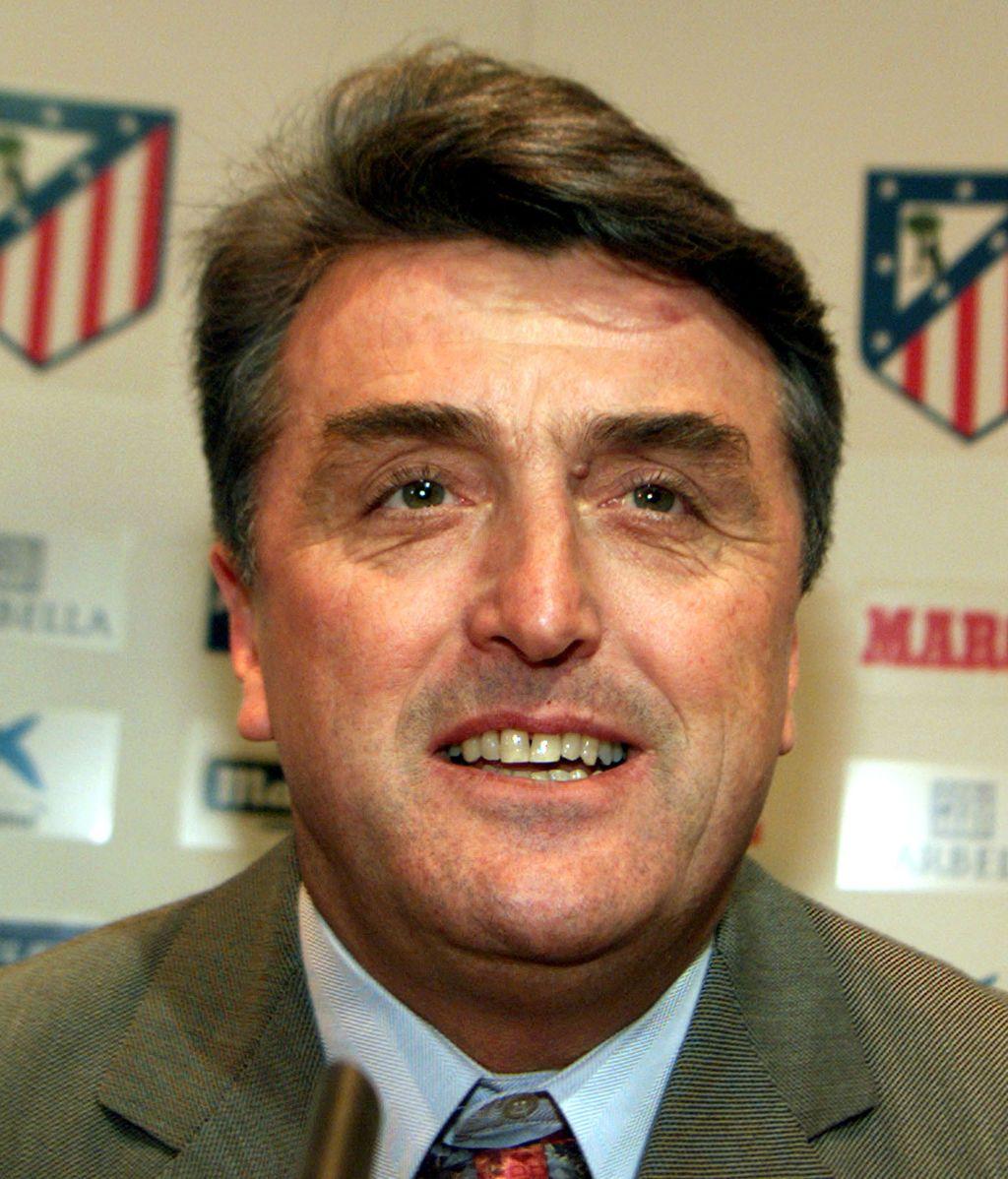 Radomir Antic, en la sala de prensa del Atlético.