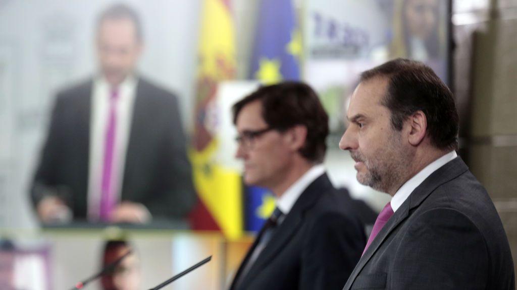 José Luis Ábalos en rueda de prensa