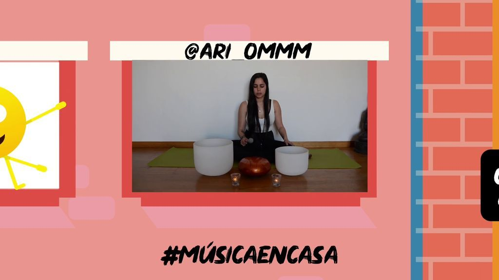 Desde el balcón @ari_ommm nos ayuda a relajarnos compartiendo este pequeño concierto sonoro