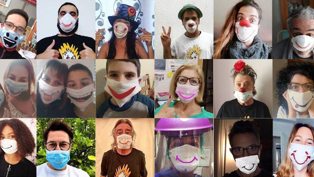 #sonrisavirus, el movimiento que propone dibujar una sonrisa en las mascarillas
