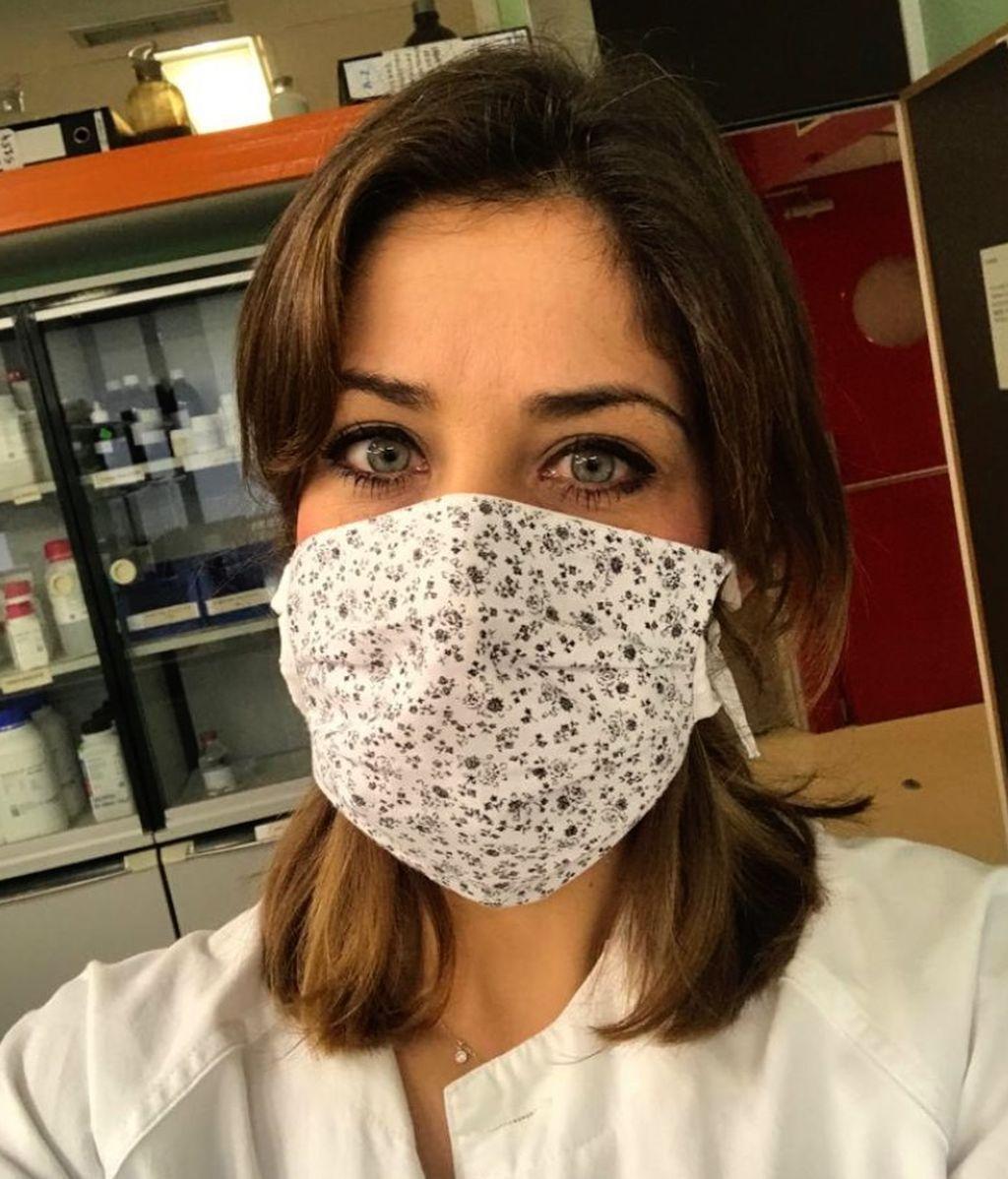 María José Zambrano en su puesto de trabajo