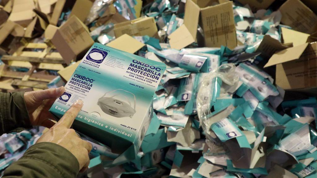El material sustraído fue extraído de sus cajas y plásticos protectores