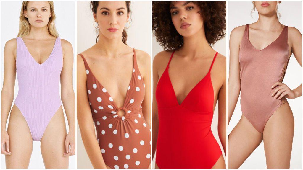 Los bañadores de Zara, Women's Secret y Calzedonia.