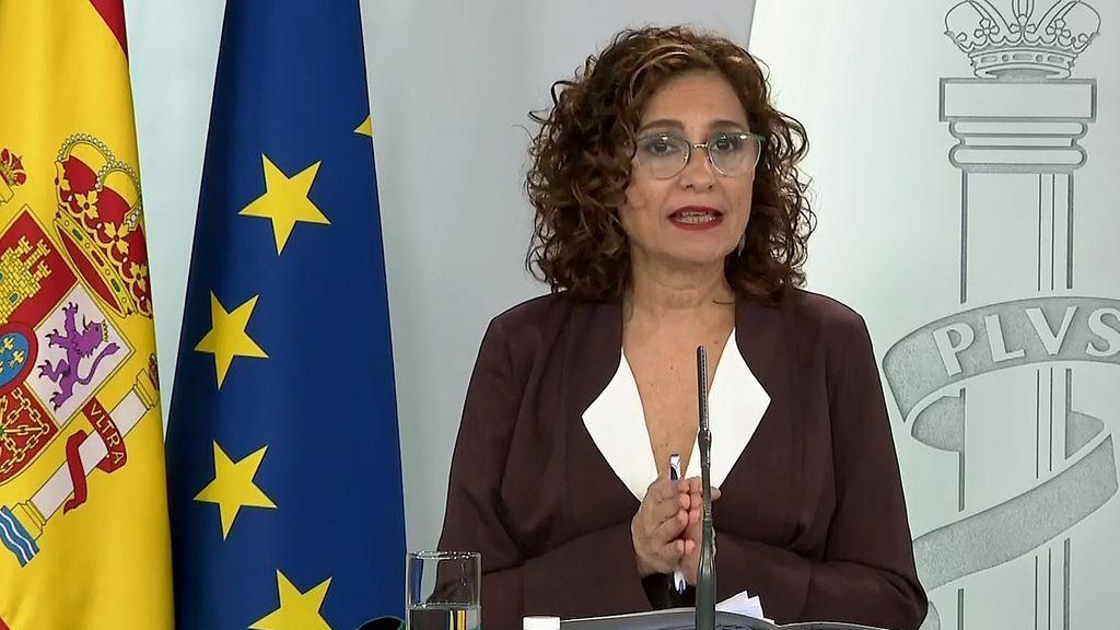 la portavoz del Gobierno, Maria Jesús Montero