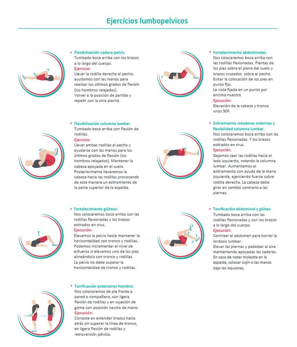 Tabla de ejercicios para el dolor lumbar