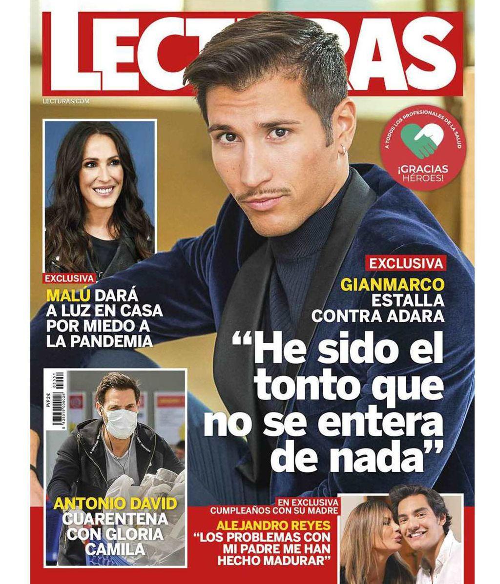 Alejandro Reyes, en portada de la revista 'Lecturas'