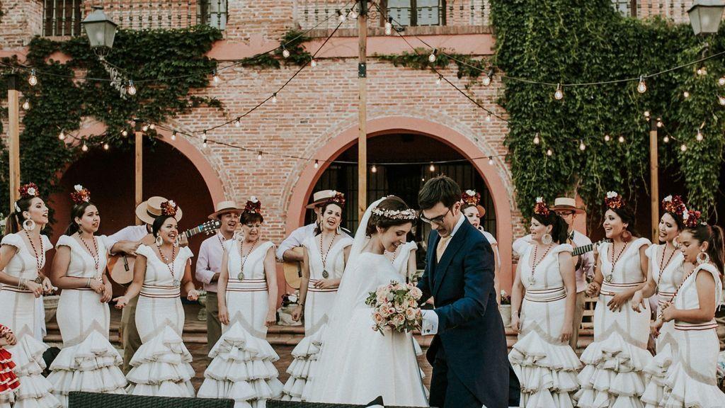 El coro en una boda.