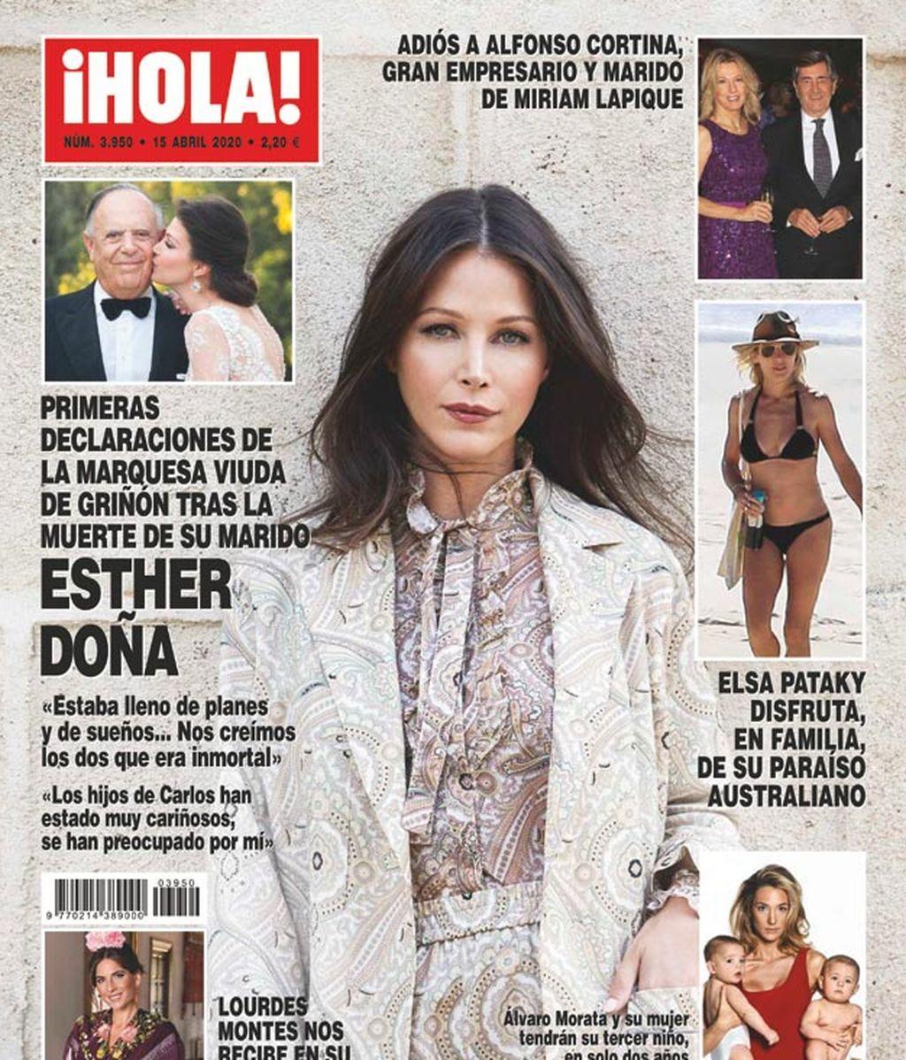 Esther Doña, en ¡Hola!