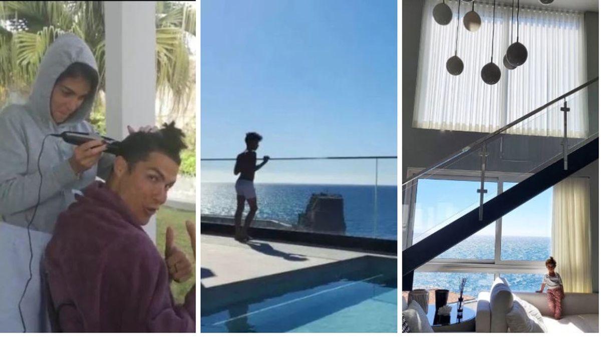 Varias piscinas, siete plantas y un gimnasio: el edificio de siete millones de euros en el que Cristiano pasa el confinamiento