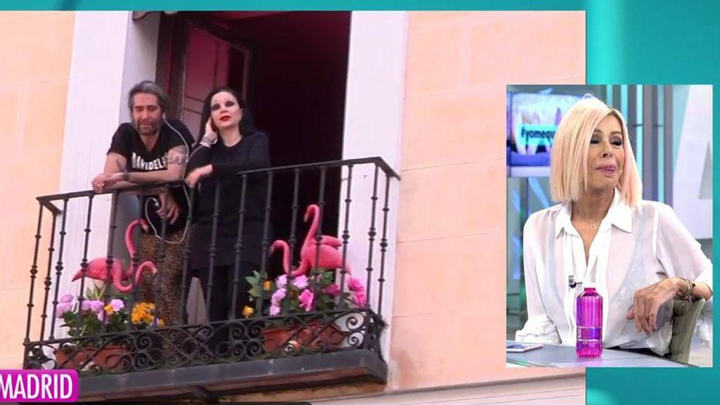 """Bibiana se emociona con la sorpresa de Vaquerizo y Olvido: """"Mi familia son mis amigos"""""""