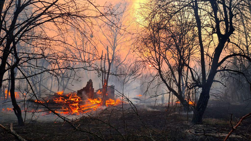 La radiación en Chernóbil aumenta a 16 veces más de lo normal: un incendio complica la zona cero