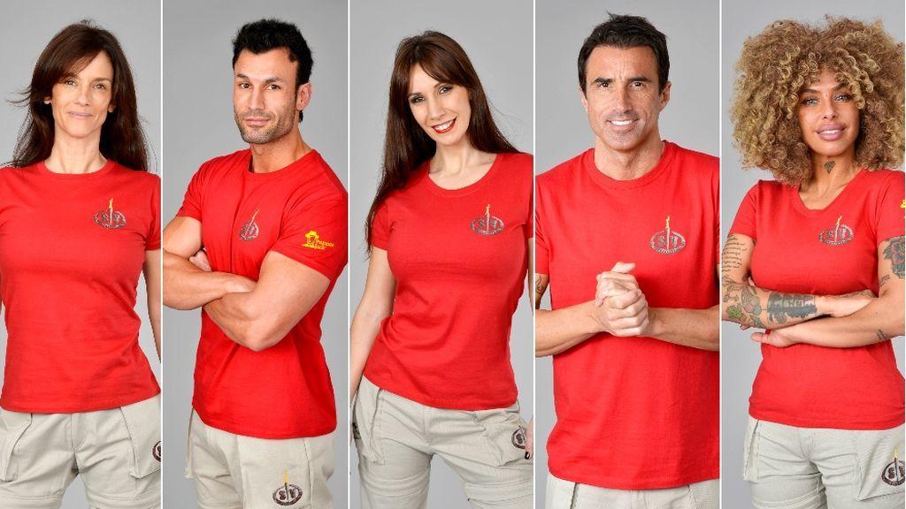 Elena, Jorge, Fani, Hugo y Yiya, nominados de 'Supervivientes 2020'