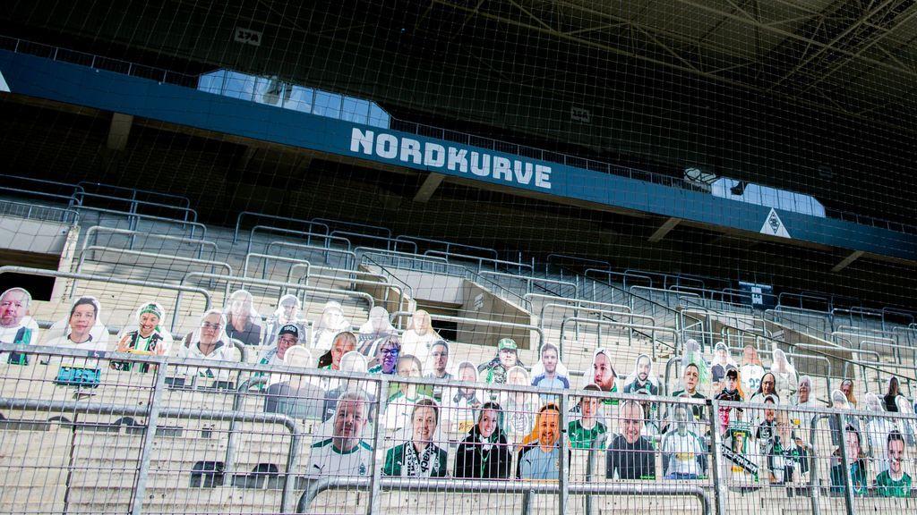 La grada del estadio del Gladbach.