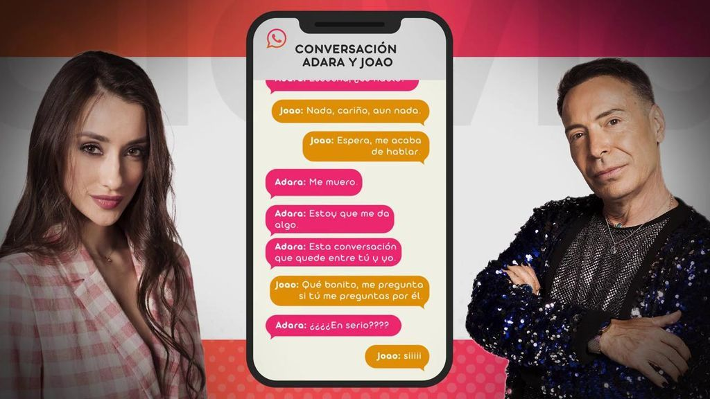 Joao muestra sus mensajes con Adara