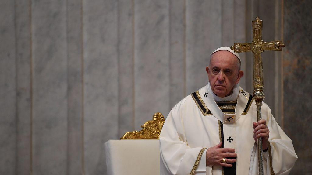 El Papa presidiendo la misa del Domingo de Resurrección