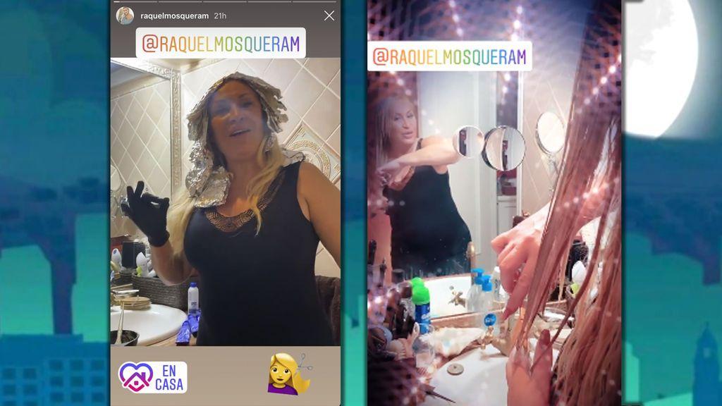 Raquel Mosquera cambiando de look