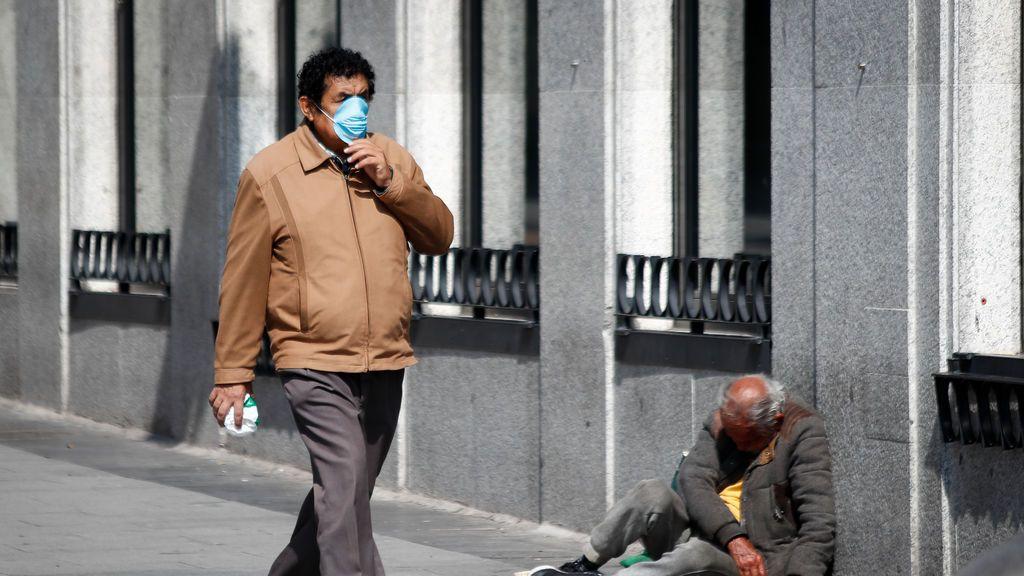 Imagen de una calle de Madrid durante la epidemia de coronavirus