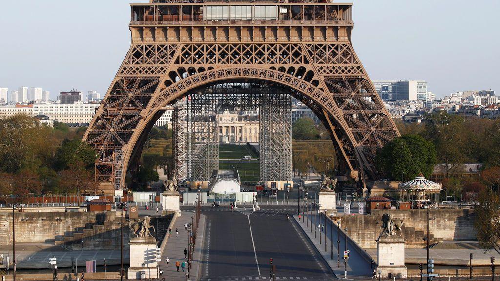 La ciudad de París vacía durante el confinamiento