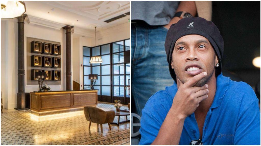 El hotel donde pasa Ronaldinho el arresto domiciliario: una planta para él solo, 400 euros la noche y jacuzzi privado
