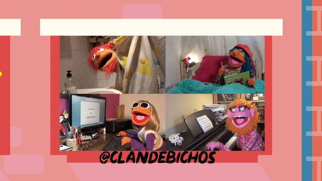 @CLANDEBICHOS junto a sus títeres para niños y la Familia Ventura nos recuerdan con música y humor que nos quedemos en casa
