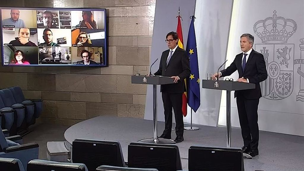 Balance de Interior: 200 bulos detectados  en la red y 650.000 denuncias interpuestas por romper el confinamiento