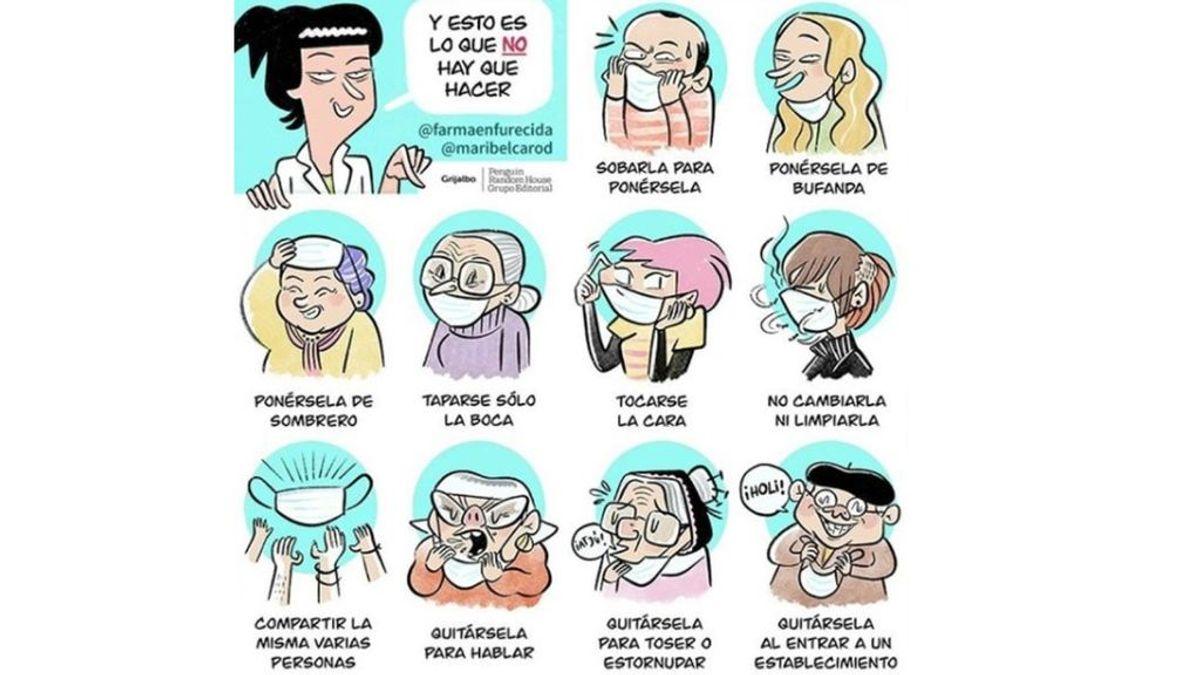 Quitársela para toser o taparse solo la boca: errores que se cometen en el uso de las mascarillas