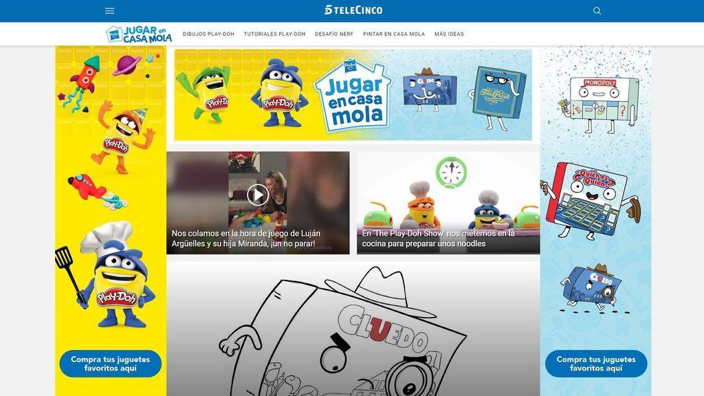 Hasbro y Mediaset España lanzan la iniciativa 'Jugar En Casa Mola' participada por Luján Argüelles y Tania Llasera