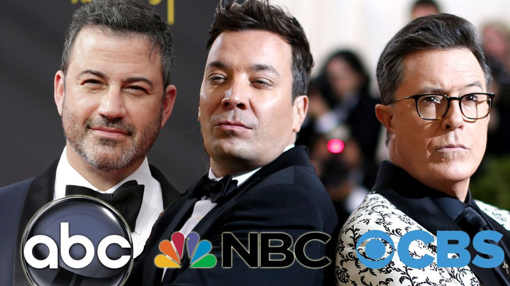 Jimmy Kimmel (ABC), Jimmy Fallon (NBC) y Stephen Colbert (CBS), presentadores de 'One World: Together At Home'