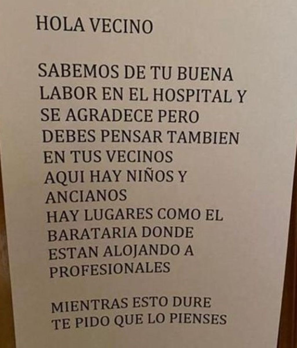 La nota de los vecinos a un médico de Ciudad Real