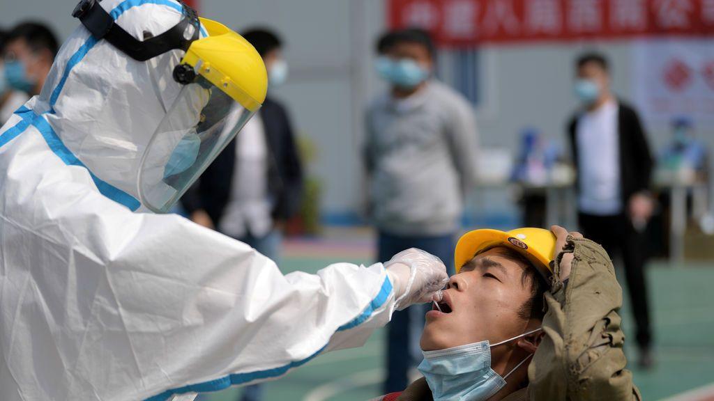 Prueba de coronavirus en China